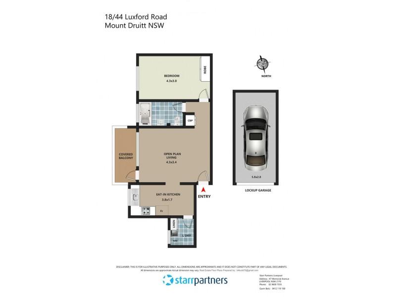 18/44 Luxford St, Mount Druitt NSW 2770 Floorplan