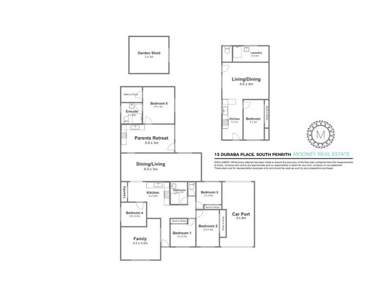 15 Duraba Place, South Penrith NSW 2750 Floorplan