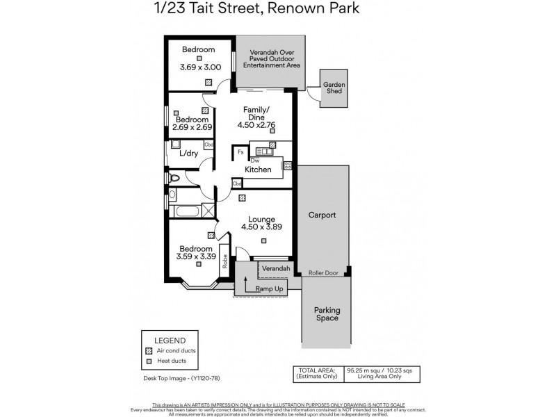 1/23 Tait Street, Renown Park SA 5008 Floorplan