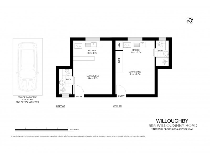 65/595  Willoughby Road, Willoughby NSW 2068 Floorplan