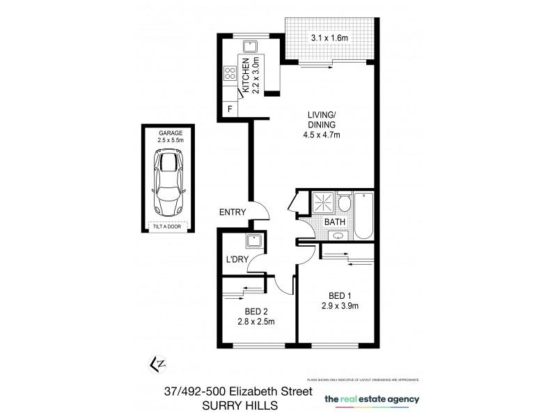 37/492 Elizabeth Street, Surry Hills NSW 2010 Floorplan