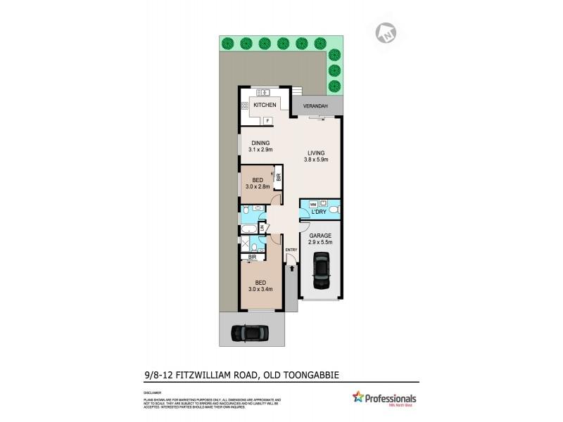 9/8-12 Fitzwilliam Road, Old Toongabbie NSW 2146 Floorplan