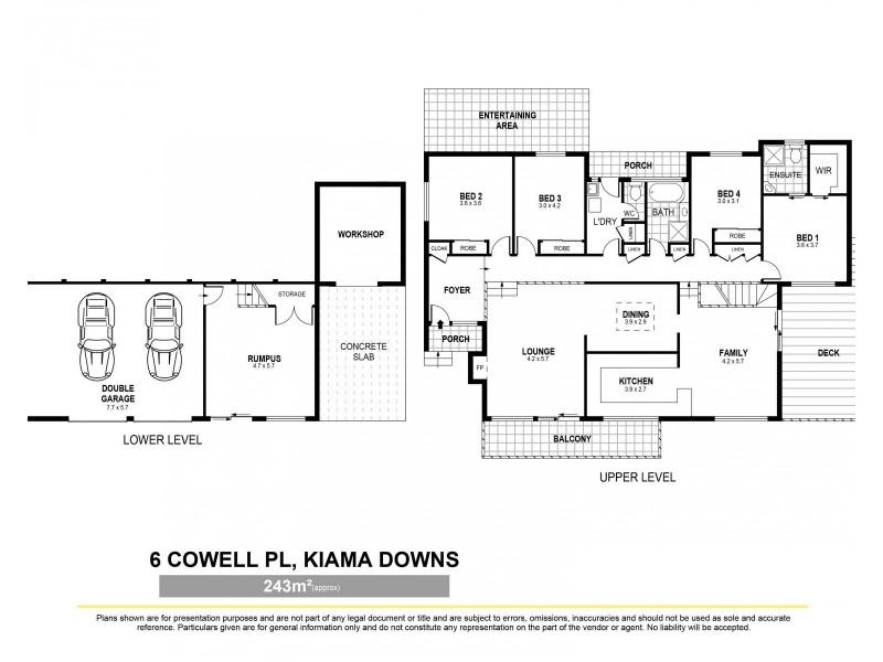 6 Cowell Place, Kiama Downs NSW 2533 Floorplan