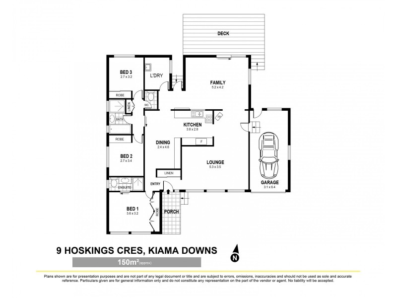 9 Hoskings Crescent, Kiama Downs NSW 2533 Floorplan