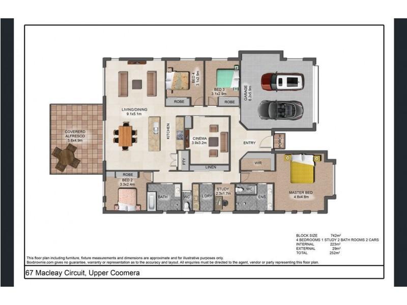 67 Macleay Circuit, Upper Coomera QLD 4209 Floorplan