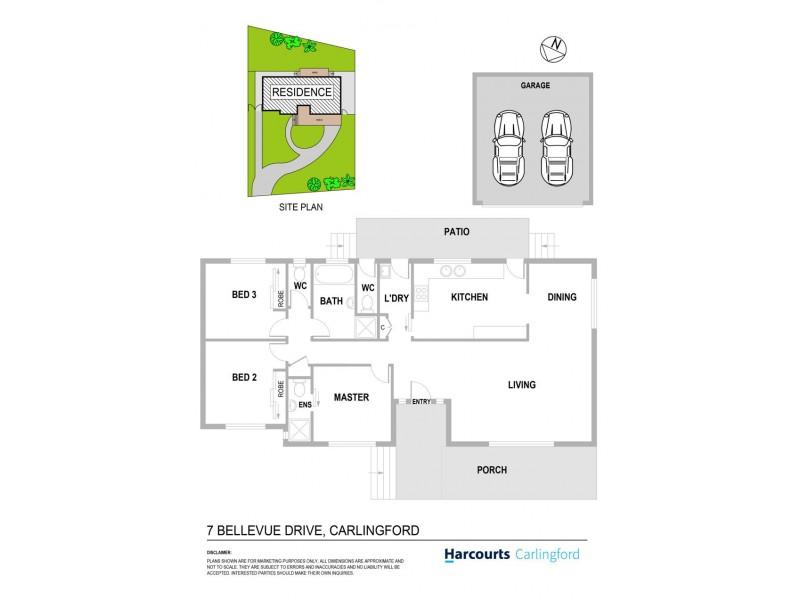 7 Bellevue Drive, Carlingford NSW 2118 Floorplan