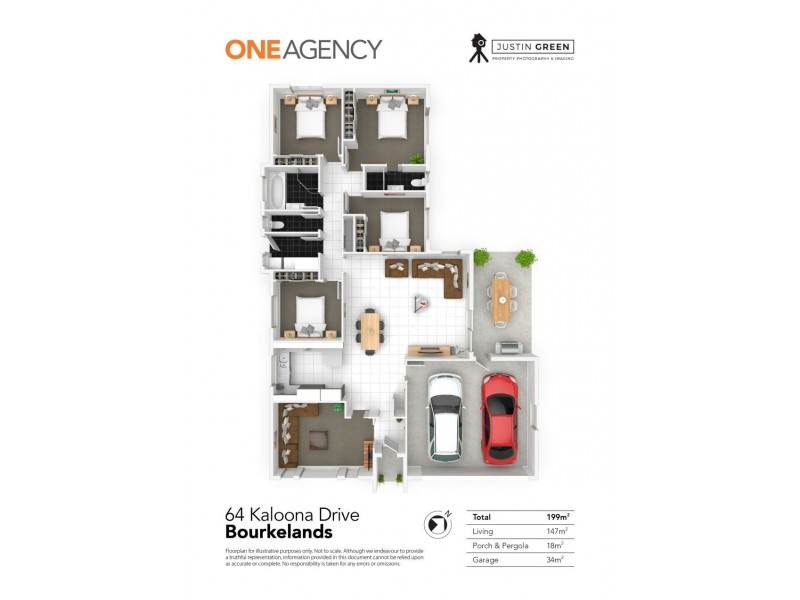 64 KALOONA DRIVE, Bourkelands NSW 2650 Floorplan