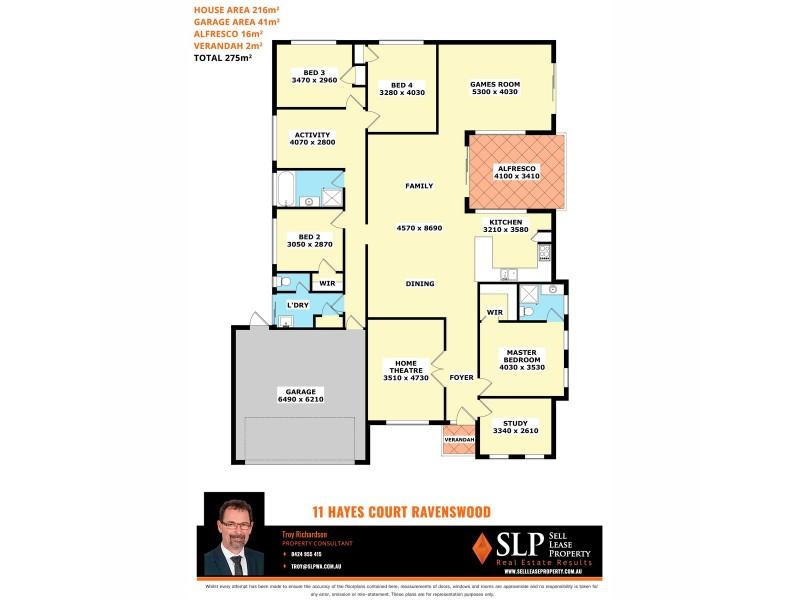 11 Hayes Court, Ravenswood WA 6208 Floorplan