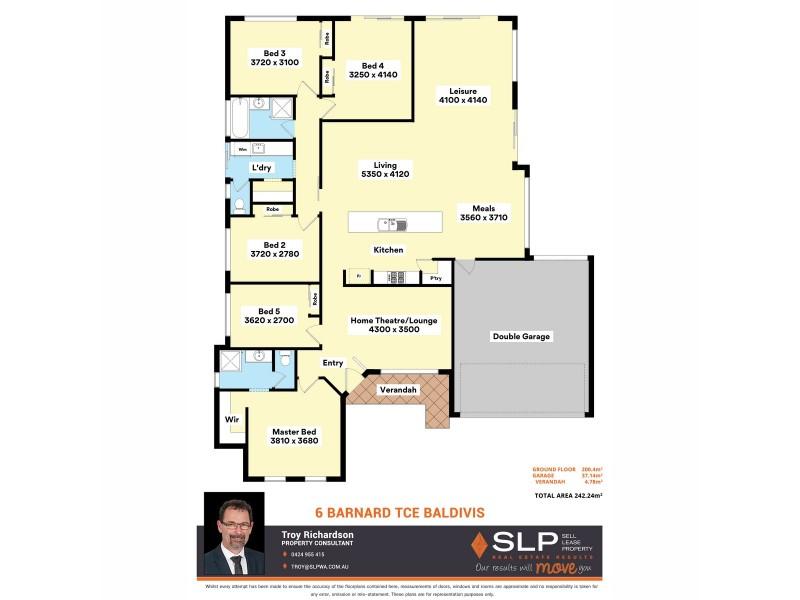 6 Barnard Terrace, Baldivis WA 6171 Floorplan