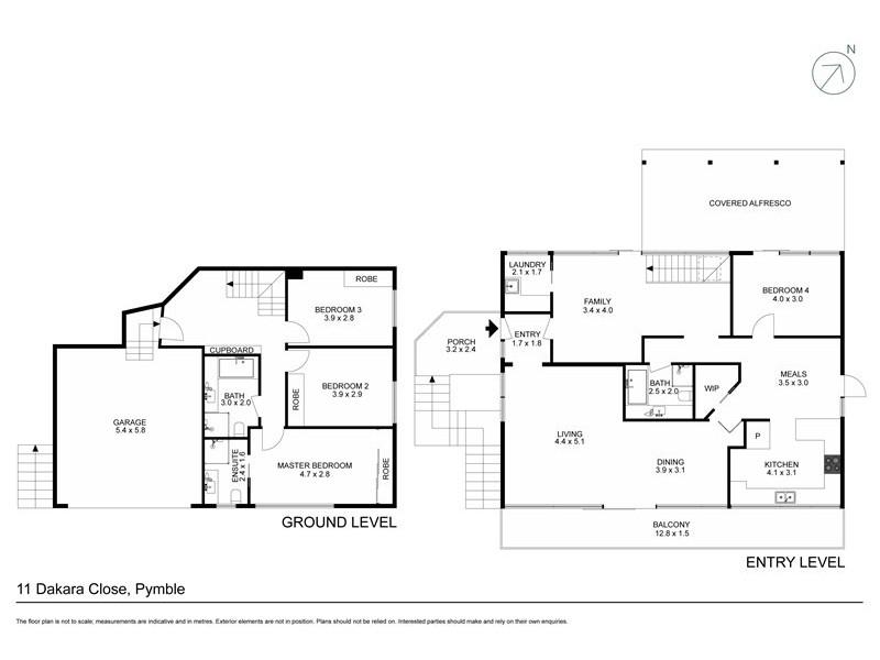 11 Dakara Close, Pymble NSW 2073 Floorplan