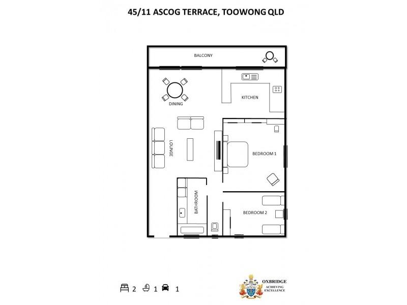 45/11 Ascog Terrace, Toowong QLD 4066 Floorplan