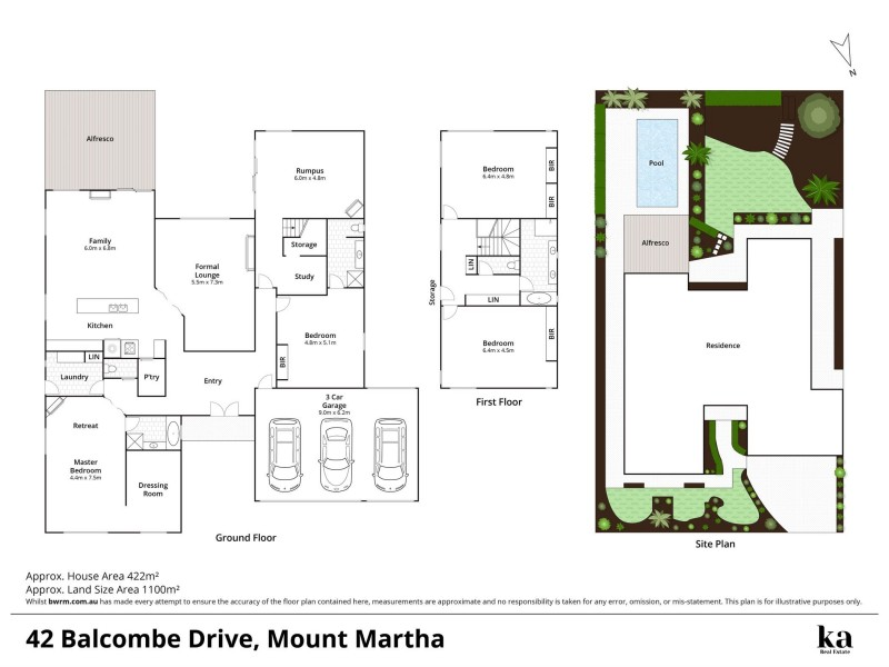 42 Balcombe Drive, Mount Martha VIC 3934 Floorplan