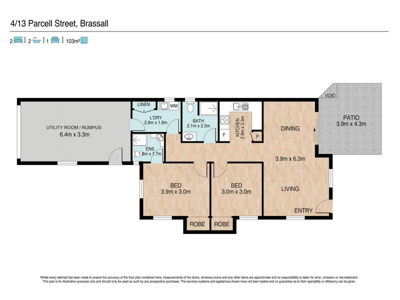 4/13 Parcell Street, Brassall QLD 4305 Floorplan