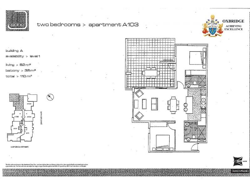 103/8 Cordelia Street, South Brisbane QLD 4101 Floorplan