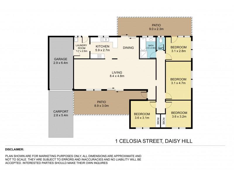 1 Celosia Street, Daisy Hill QLD 4127 Floorplan