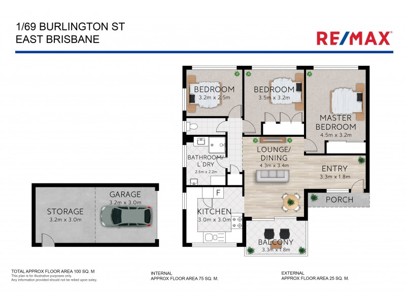 1/69 Burlington Street, East Brisbane QLD 4169 Floorplan