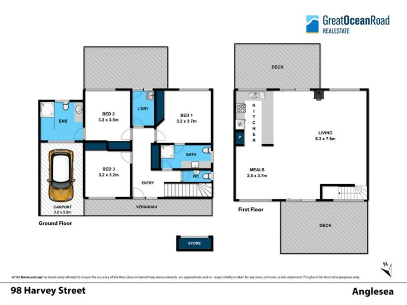 98 Harvey Street, Anglesea VIC 3230 Floorplan