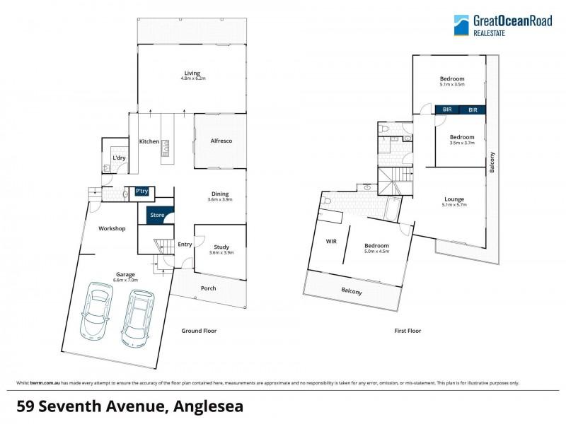 59 Seventh Avenue, Anglesea VIC 3230 Floorplan