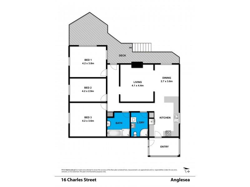 16 Charles Street, Anglesea VIC 3230 Floorplan