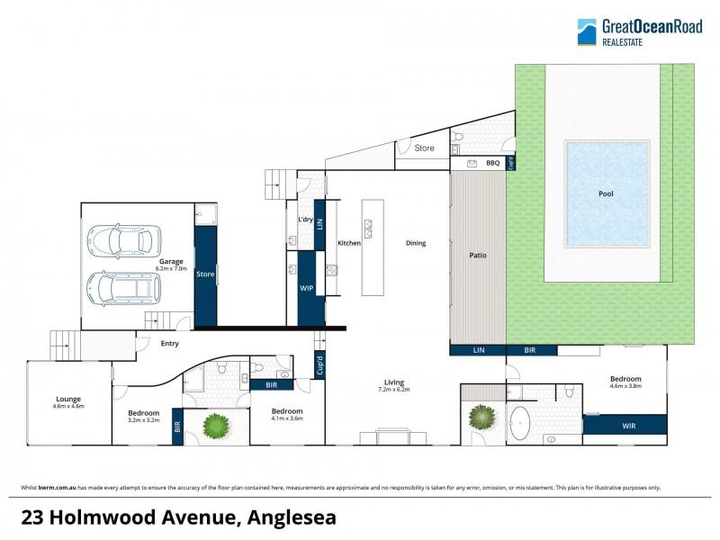 23 Holmwood Avenue, Anglesea VIC 3230 Floorplan