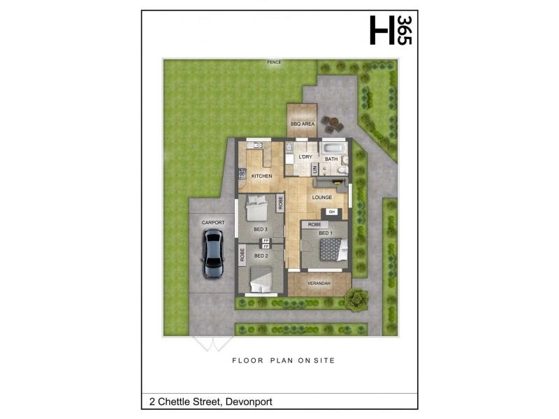 2 Chettle Street, Devonport TAS 7310 Floorplan