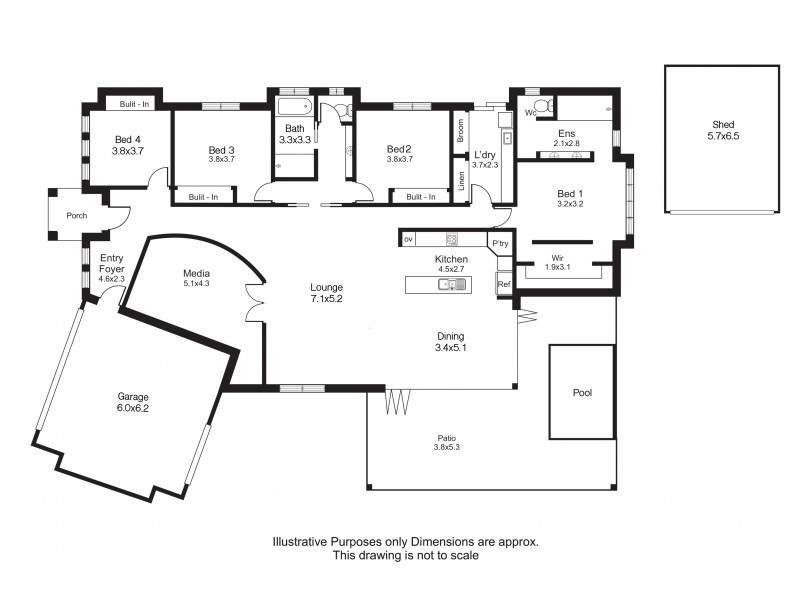 6 Lockyer Crescent, Bentley Park QLD 4869 Floorplan