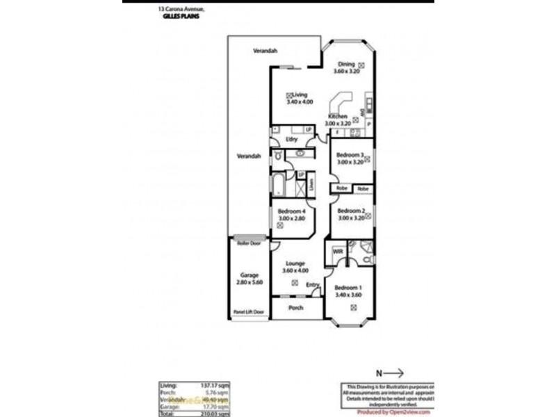 13 carona avenue, Gilles Plains SA 5086 Floorplan