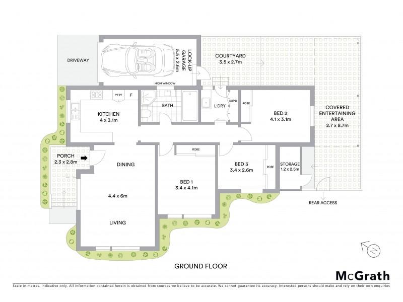 1/2 Occupation Road, Kyeemagh NSW 2216 Floorplan