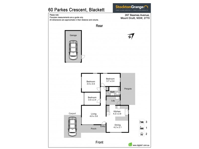 60 Parkes Crescent, Blackett NSW 2770 Floorplan