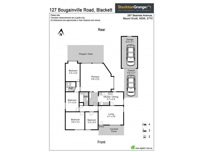 127 Bougainville Road, Blackett NSW 2770 Floorplan