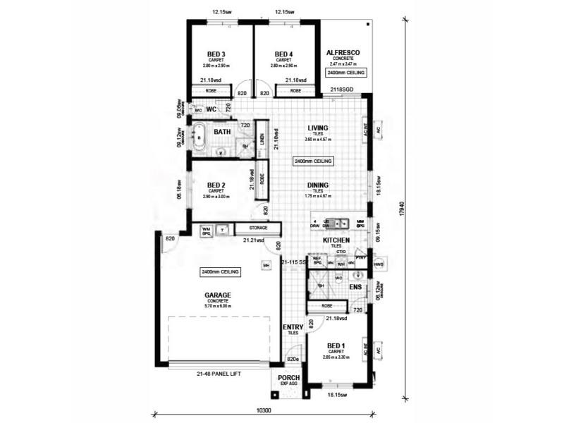 Lot 88 Palmeri Street, Caboolture QLD 4510 Floorplan