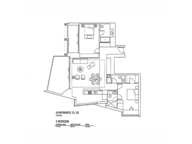 1D/161 Kent Street, Sydney NSW 2000 Floorplan
