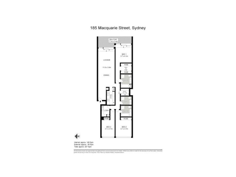185 Macquarie Street, Sydney NSW 2000 Floorplan
