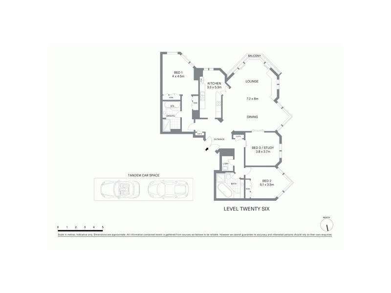 2604/100 Gloucester Street, Sydney NSW 2000 Floorplan