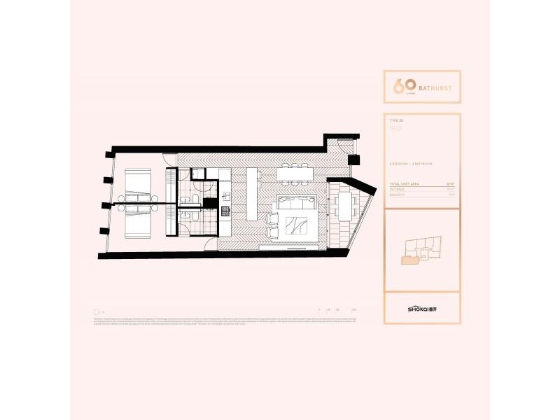 1901/60 Bathurst Street, Sydney NSW 2000 Floorplan