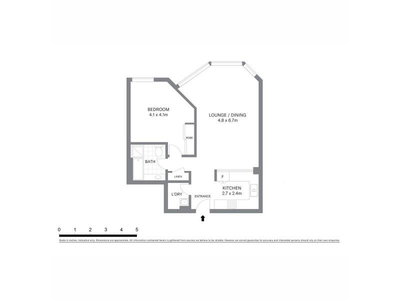 1303/98 Gloucester Street, Sydney NSW 2000 Floorplan