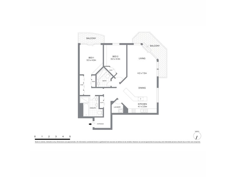 1408/127 Kent Street, Sydney NSW 2000 Floorplan