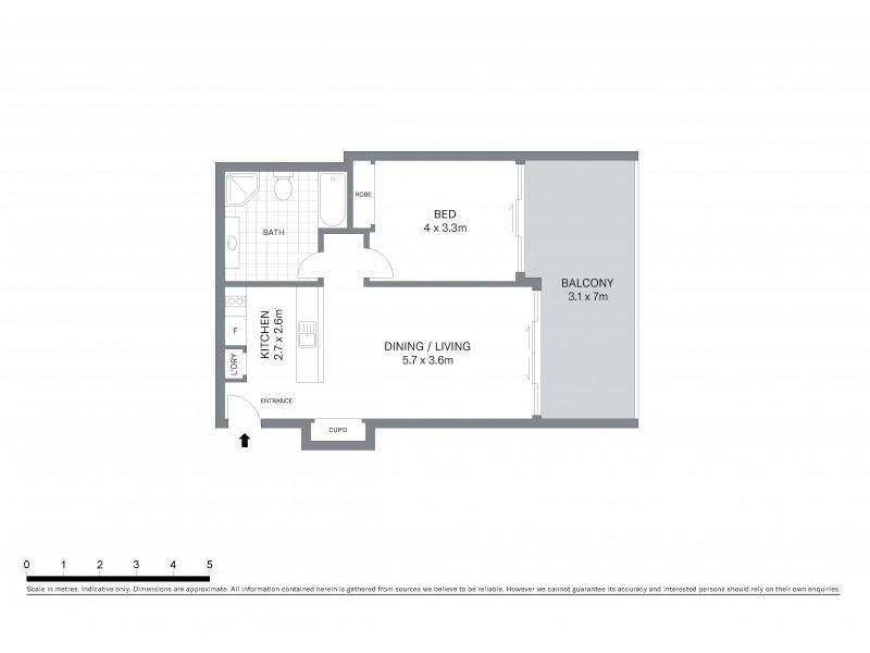 907/187 Kent Street, Sydney NSW 2000 Floorplan