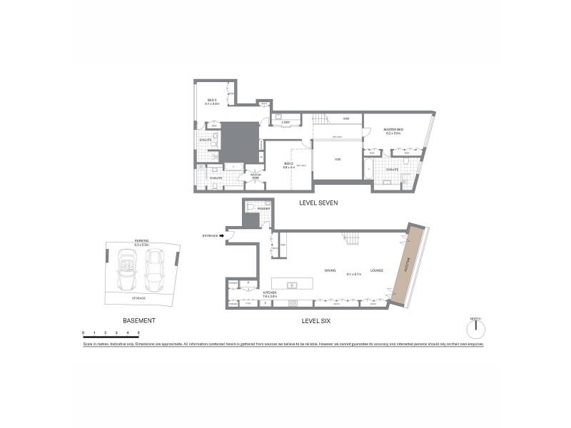 6C/185 Gloucester Street, Sydney NSW 2000 Floorplan