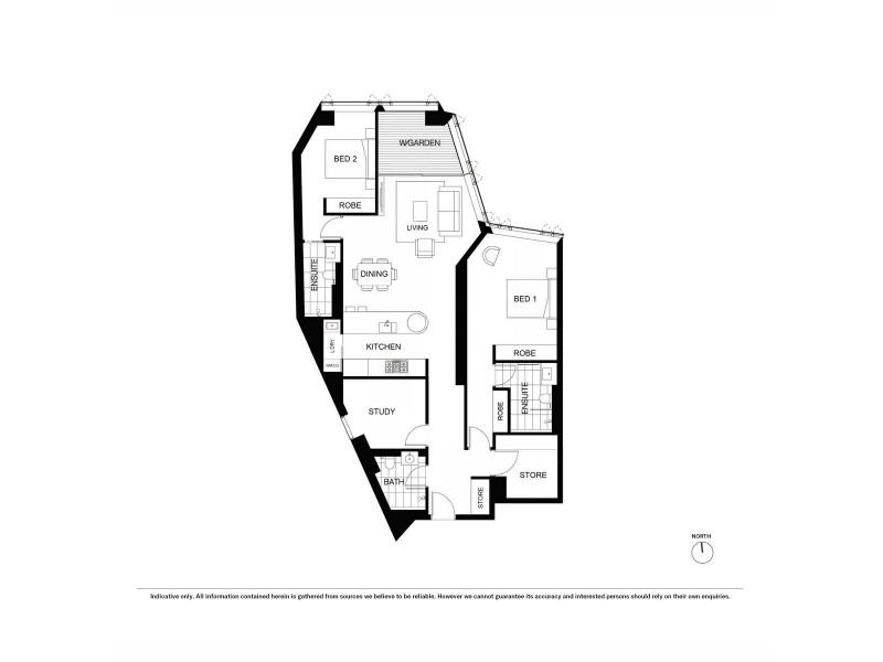3201/116 Bathurst Street, Sydney NSW 2000 Floorplan