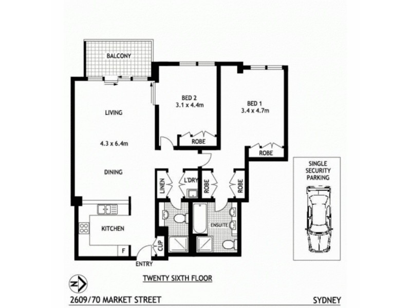 68 Market Street, Sydney NSW 2000 Floorplan