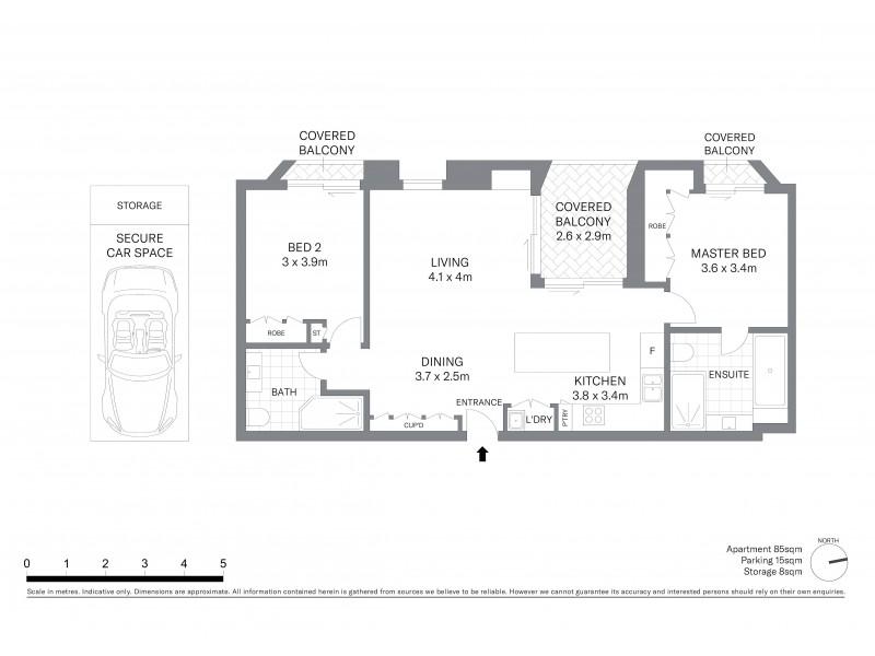 705/15 Young Street, Sydney NSW 2000 Floorplan