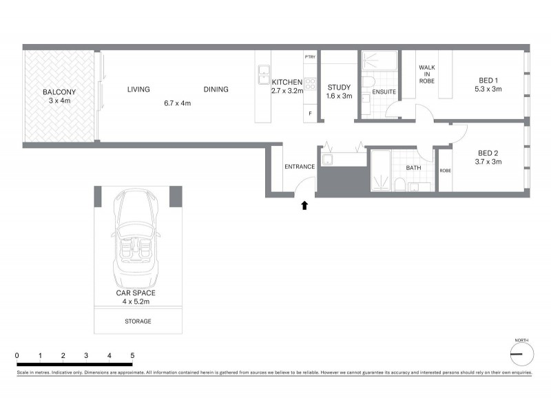 1701/130 Elizabeth Street, Sydney NSW 2000 Floorplan