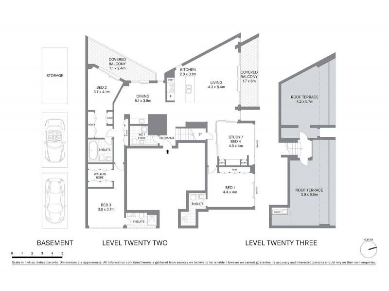 Penthouse 2201/11 Alberta Street, Sydney NSW 2000 Floorplan
