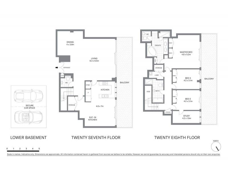 Penthouse 2702/183 Kent Street, Sydney NSW 2000 Floorplan
