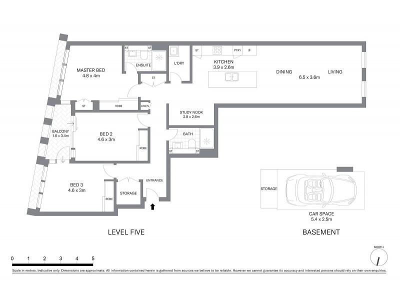 511/188 Day Street, Sydney NSW 2000 Floorplan
