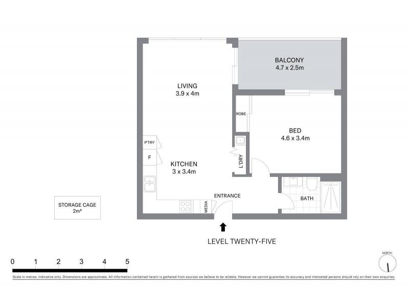 2510/81 Harbour Street, Sydney NSW 2000 Floorplan