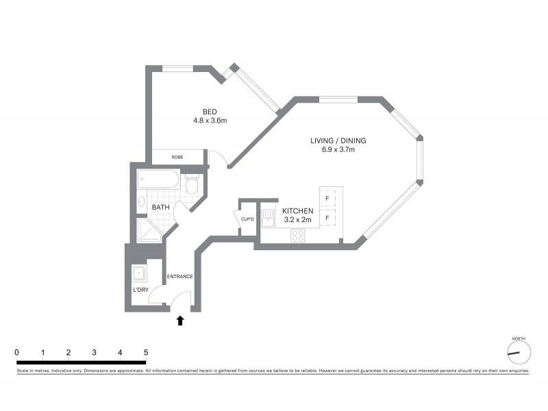 902/98 Gloucester Street, Sydney NSW 2000 Floorplan