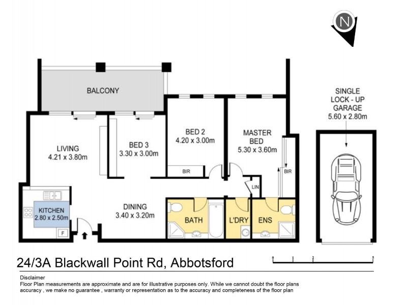 24/3a Blackwall Point Road, Abbotsford NSW 2046 Floorplan