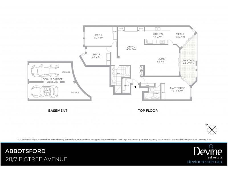 28/7 Figtree Avenue, Abbotsford NSW 2046 Floorplan